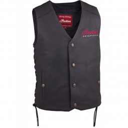 MEN'S INDIAN MOTORCYCLE VEST 2 - BLACK