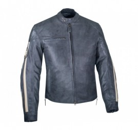 MENS GRAY PERFORATED ROUTE JACKET